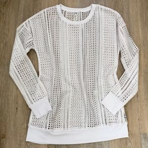 Fabletics Sophie Tunic White Mesh Small